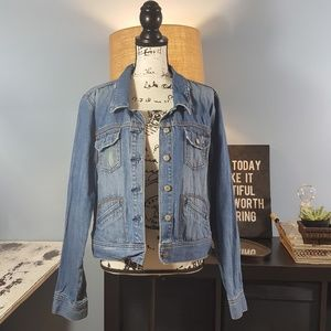 Old Navy rare distressed Jeans Jacket Size XXL